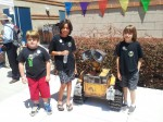 Hanging out with the life size Wall-E