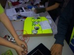 Plugging in the MaKey MaKey