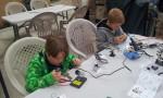 Working on soldering